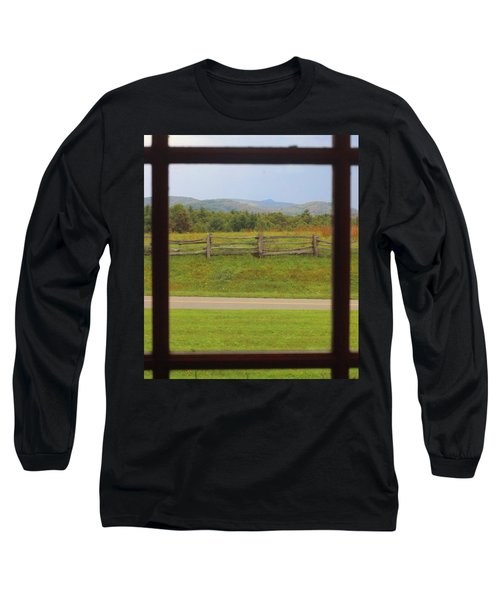 Fall Mountains Through The Window  Long Sleeve T-Shirt