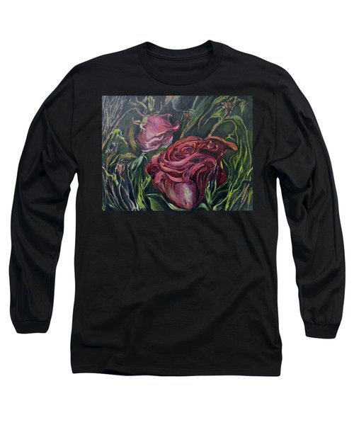 Fall Roses Long Sleeve T-Shirt by Nadine Dennis