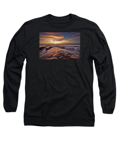Falling Water Long Sleeve T-Shirt by Sam Antonio Photography
