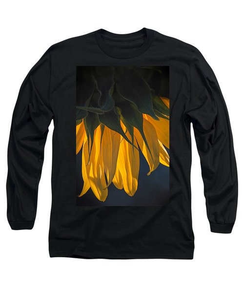 Falling Yellow  Long Sleeve T-Shirt