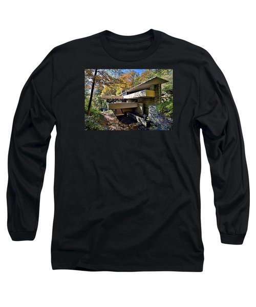Fallingwater Pennsylvania - Frank Lloyd Wright Long Sleeve T-Shirt
