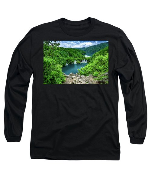 Falls From Above - Plitvice Lakes National Park, Croatia Long Sleeve T-Shirt