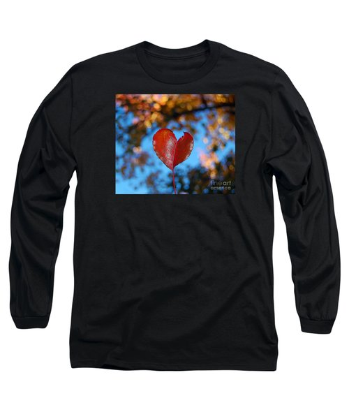 Long Sleeve T-Shirt featuring the photograph Fall's Heart by Debra Thompson