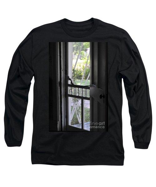Farm House Screen Door Long Sleeve T-Shirt by Wilma  Birdwell