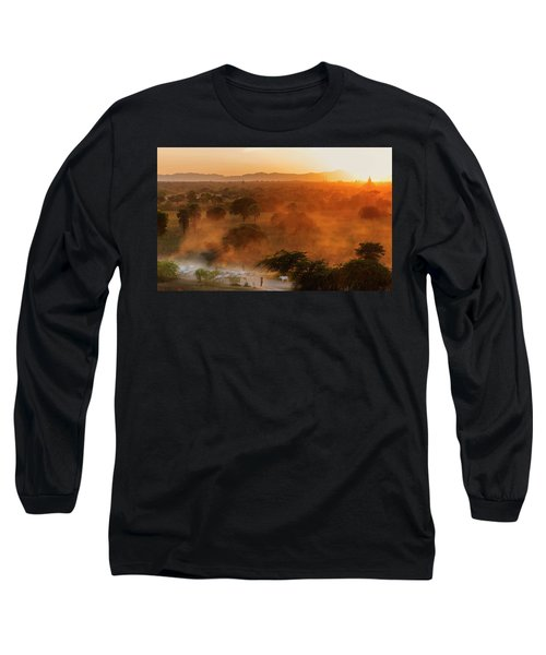 Farmer Returning To Village In The Evening Long Sleeve T-Shirt