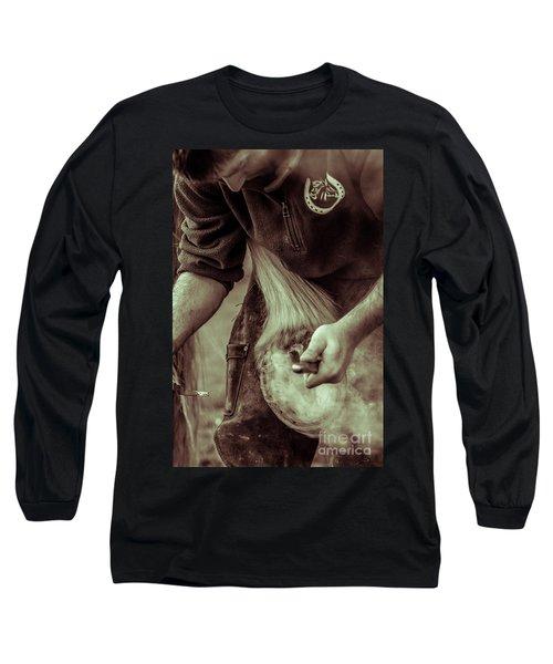 Farrier Hot Shoe Long Sleeve T-Shirt