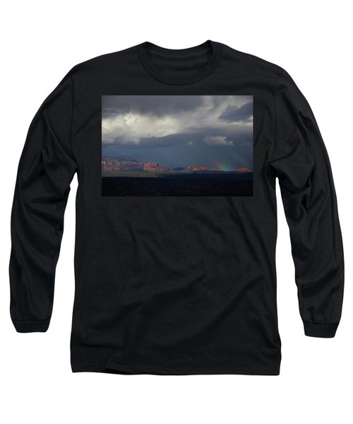 Long Sleeve T-Shirt featuring the photograph Fat Ground Rainbow, Red Rocks Sedona by Ron Chilston