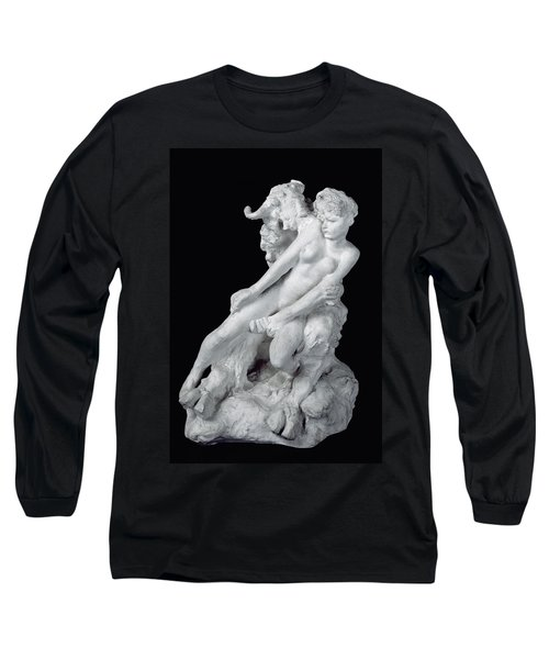 Faun And Nymph Long Sleeve T-Shirt by Auguste Rodin