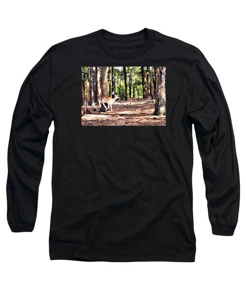 Faun In Flight Long Sleeve T-Shirt