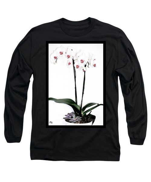 Favorite Gift Of Orchids Long Sleeve T-Shirt by Marsha Heiken