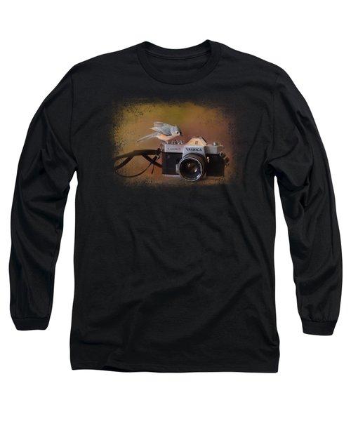 Feathered Photographer Long Sleeve T-Shirt