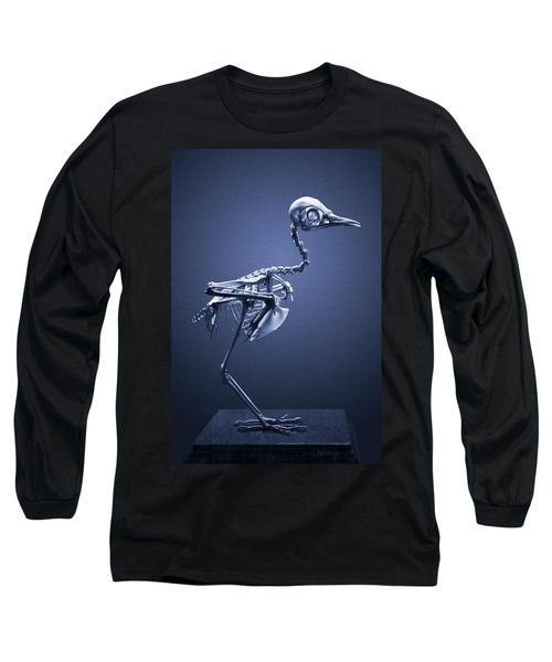 Long Sleeve T-Shirt featuring the photograph Featherless In Blue by Joseph Westrupp