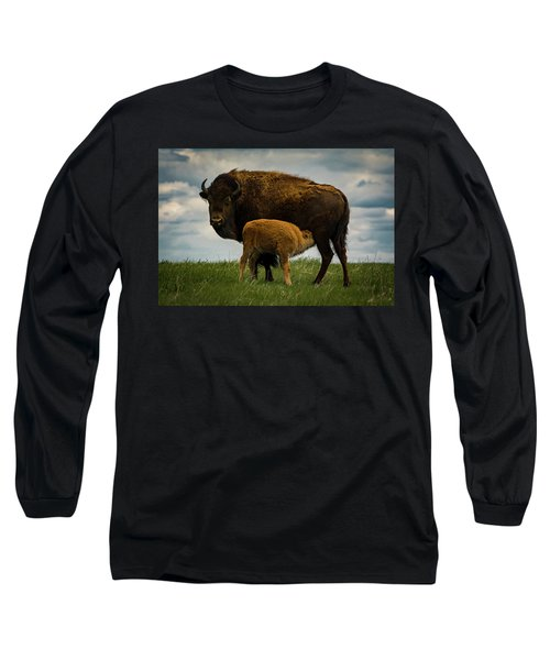 Long Sleeve T-Shirt featuring the photograph Feeding Time II by Gary Lengyel