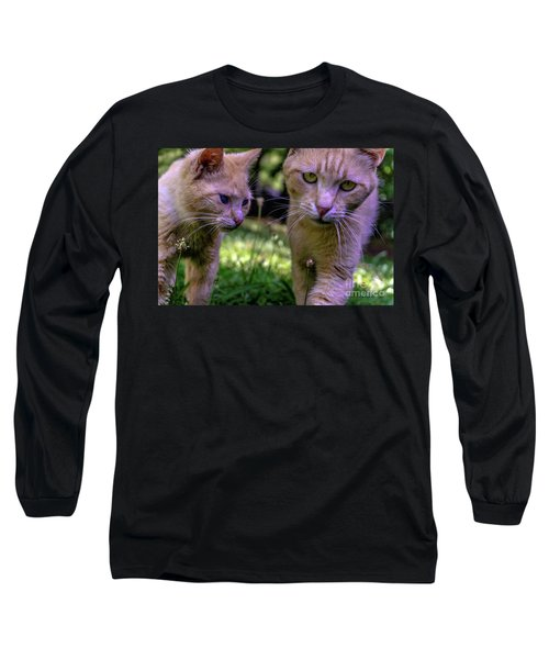 Feline Best Friends Skippy And Lovey 0369 Long Sleeve T-Shirt