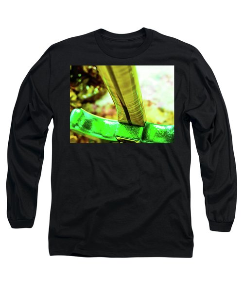 Long Sleeve T-Shirt featuring the digital art Custom Shop Stratocaster In Rare Green Sparkle by Guitar Wacky