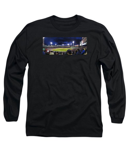 Fenway Night Long Sleeve T-Shirt by Rick Berk