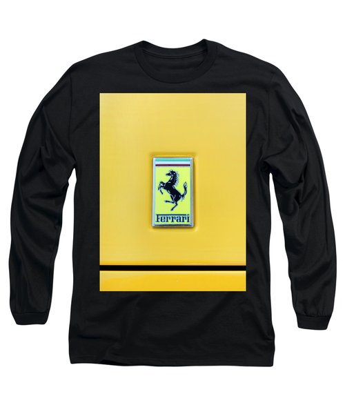 Long Sleeve T-Shirt featuring the photograph Ferrari Badge by Theresa Tahara