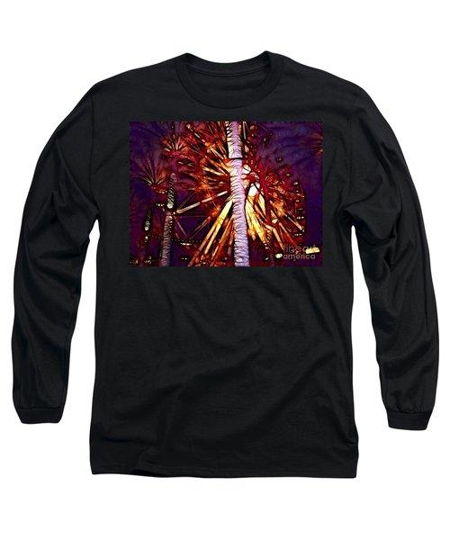Long Sleeve T-Shirt featuring the photograph Ferris Wheel  by Mariola Bitner