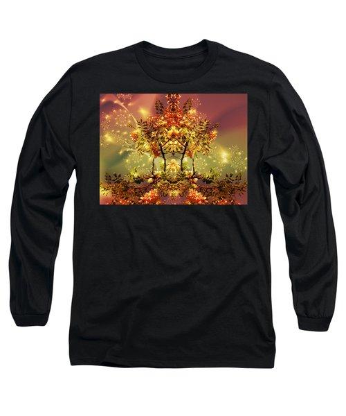 Festive Fractal Long Sleeve T-Shirt