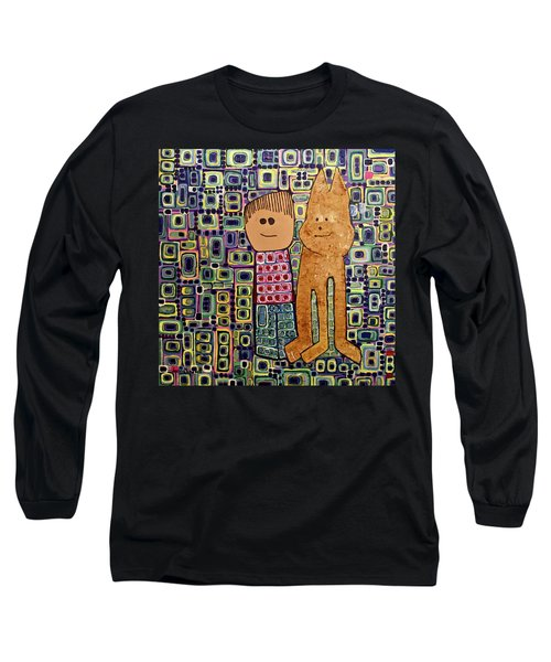Long Sleeve T-Shirt featuring the painting Fetch.. You Fetch by Donna Howard