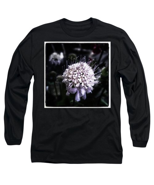 Long Sleeve T-Shirt featuring the photograph Field Scabious. A Member Of The by Mr Photojimsf