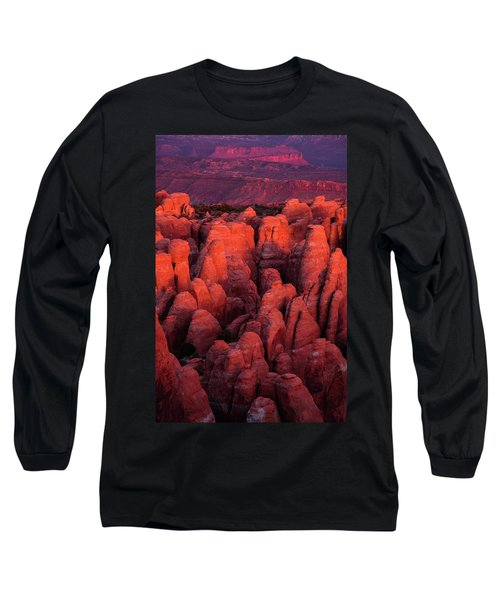 Long Sleeve T-Shirt featuring the photograph Fiery Furnace by Dustin LeFevre