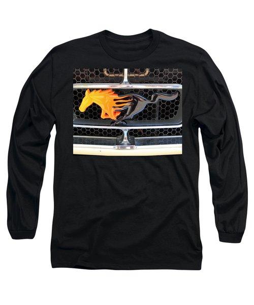 Fiery Mustang Long Sleeve T-Shirt