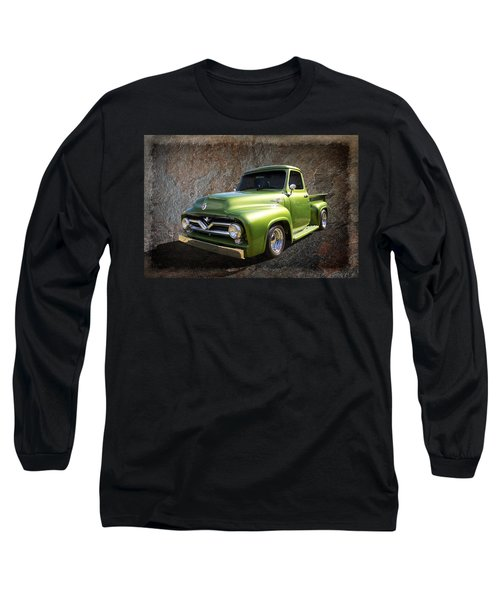 Fifties Pickup Long Sleeve T-Shirt by Keith Hawley