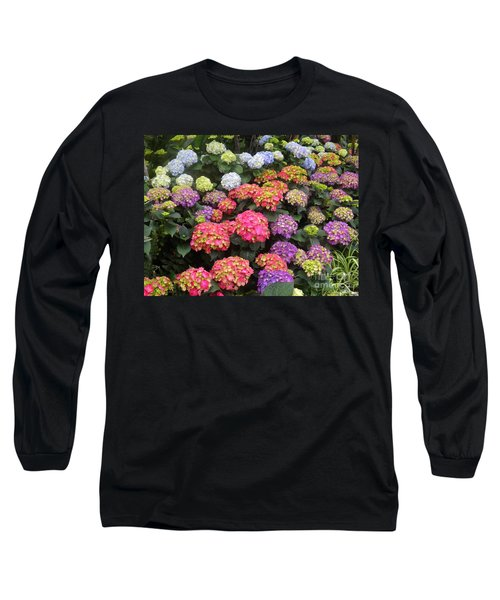Fifty Shades Of Hydrangea Long Sleeve T-Shirt by Lingfai Leung