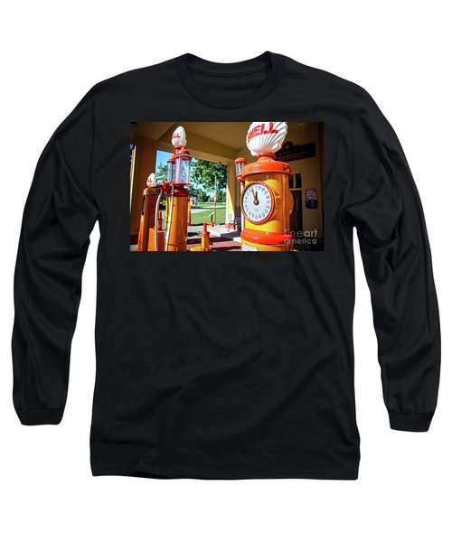 Long Sleeve T-Shirt featuring the photograph Fillin' Station by Randall Cogle