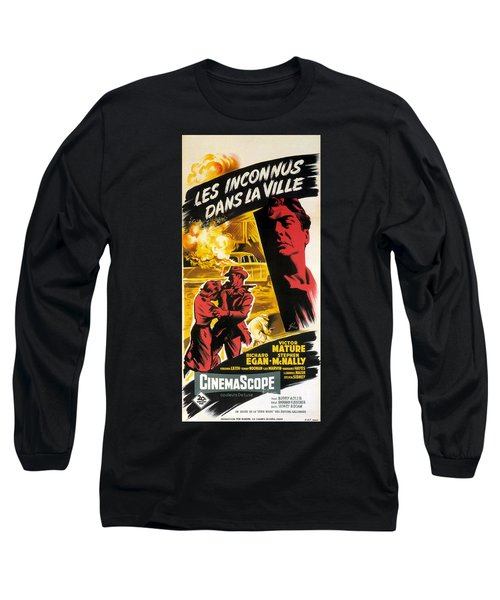 Film Noir Poster   Violent Saturday Long Sleeve T-Shirt by R Muirhead Art