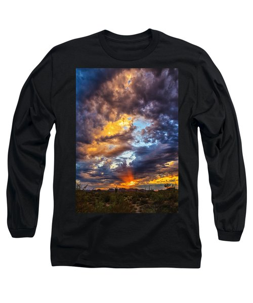 Finger Painted Sunset Long Sleeve T-Shirt