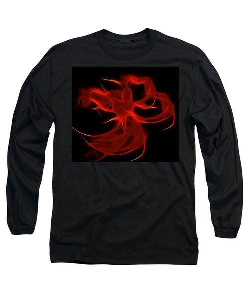Long Sleeve T-Shirt featuring the digital art Fire Dancer by Holly Ethan