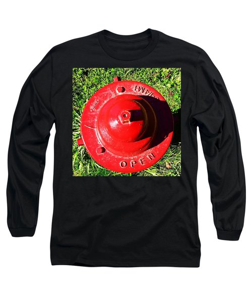 Fire Hydrant #8 Long Sleeve T-Shirt by Suzanne Lorenz
