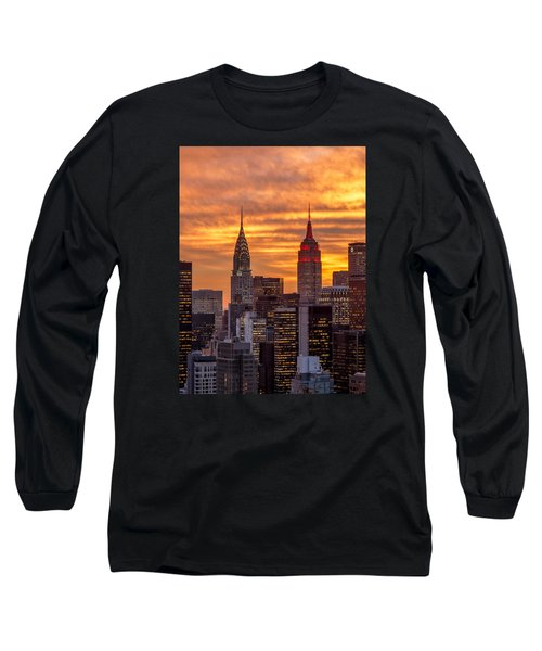 Long Sleeve T-Shirt featuring the photograph Fire In The Sky by Anthony Fields