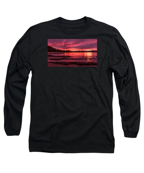 Fire In The Sky Long Sleeve T-Shirt by Racheal  Christian