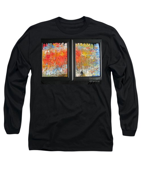 Long Sleeve T-Shirt featuring the painting Fire On The Prairie by Jacqueline Athmann