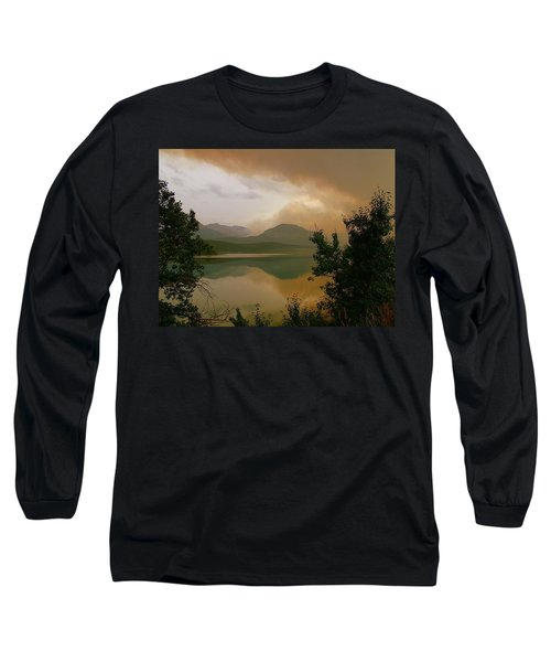 Fire Over St Mary Lake Long Sleeve T-Shirt