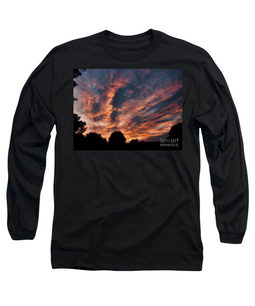 Fire Swept Sky  Long Sleeve T-Shirt by Christy Ricafrente