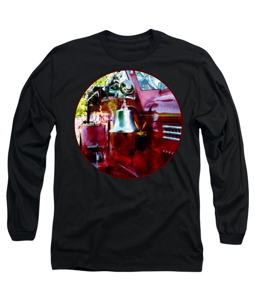 Fireman - Bell On Fire Engine Long Sleeve T-Shirt by Susan Savad