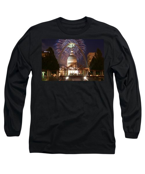 Fireworks At The Arch 1 Long Sleeve T-Shirt