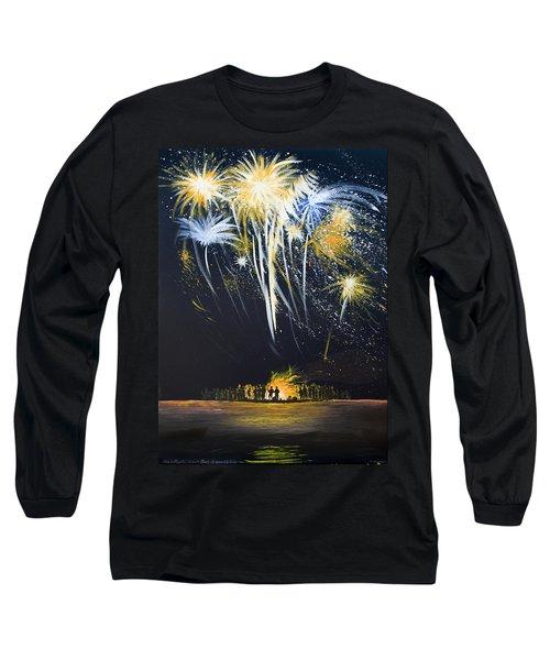 Fireworks Bonfire On The West Bar Long Sleeve T-Shirt
