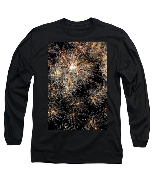 Long Sleeve T-Shirt featuring the photograph Fireworks by Suzanne Stout