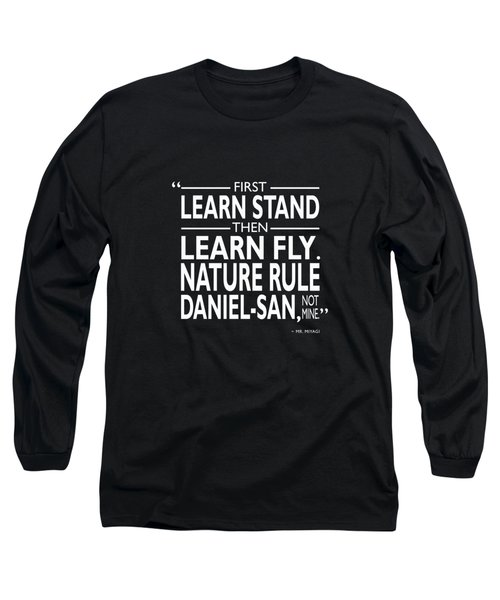 First Learn Stand Long Sleeve T-Shirt by Mark Rogan