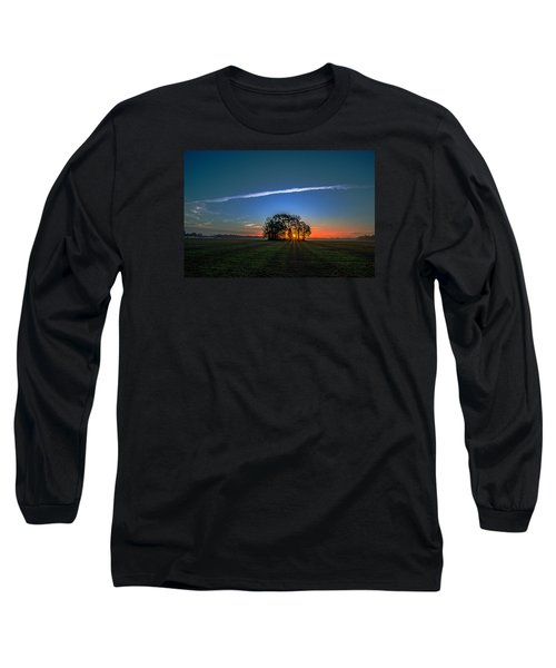 First Light At Center Grove Long Sleeve T-Shirt by John Harding