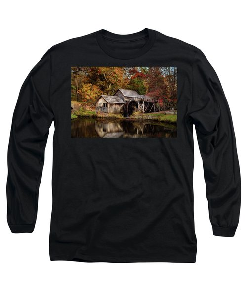 First Light At Mabry Mill Long Sleeve T-Shirt by Deborah Scannell