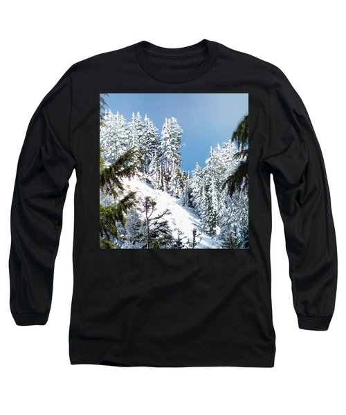 First November Snowfall Long Sleeve T-Shirt by Wendy McKennon