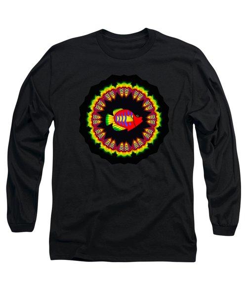 Fish Kaleidoscope By Kaye Menner Long Sleeve T-Shirt