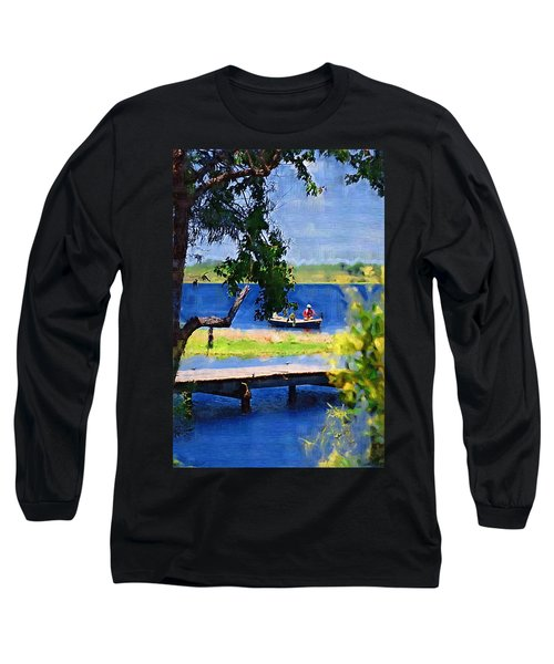 Long Sleeve T-Shirt featuring the photograph Fishin by Donna Bentley