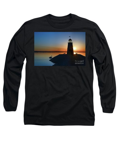 Fishing At The Lighthouse Long Sleeve T-Shirt